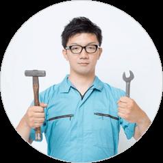 取り付け工事日の打ち合わせ後、取り付け工事開始します。